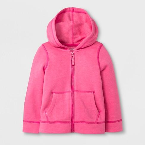 271ed00e52b0 Toddler Girls  Adaptive Fleece Zip-Up Hoodie - Cat   Jack™ Pink 3T ...