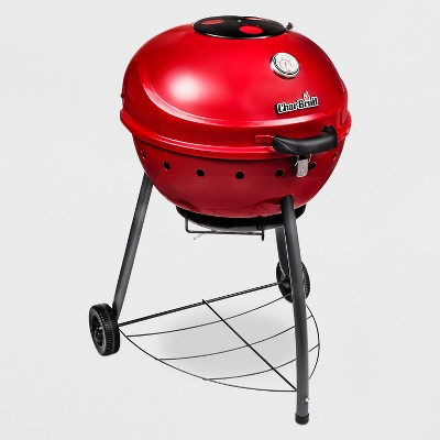 Char-Broil TRU-Infrared Kettleman Charcoal Grill 17302067 - Red
