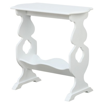 American Heritage Willow End Table - White (Medium)- Convenience Concepts