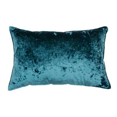 Ibenz Ice Velvet Lumbar Throw Pillow Teal - Décor Therapy