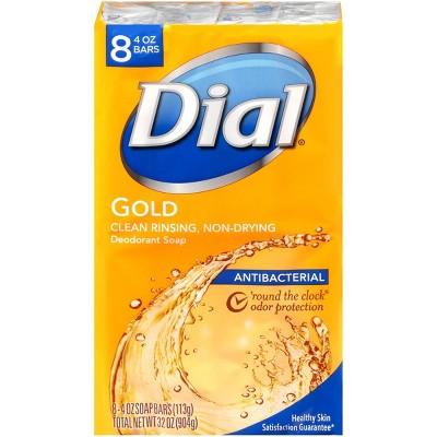 Dial Antibacterial Bar Soap - Gold - 8pk
