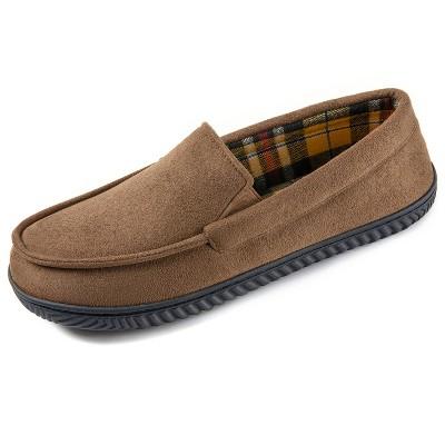 RockDove Men's Flannel Lined Memory Foam Loafer Slipper
