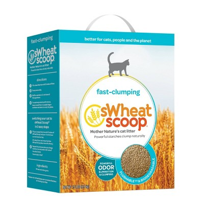 sWheat Scoop Clumping Natural Cat Litter - 15lbs