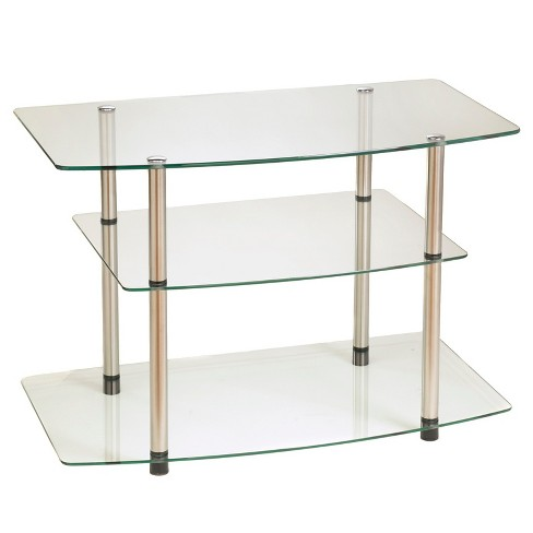 Classic Glass TV Stand - Glass - Convenience Concepts - image 1 of 3
