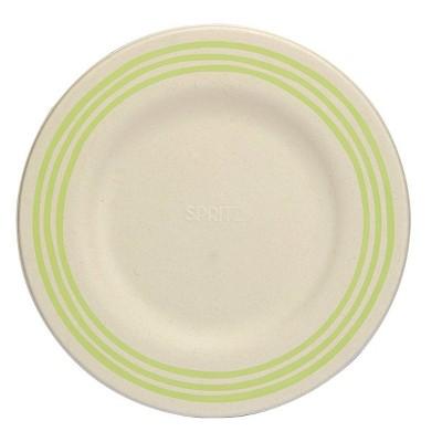 "10"" 15ct Sugarcane Dinner Plates Compostable Dinnerware Green - Spritz™"