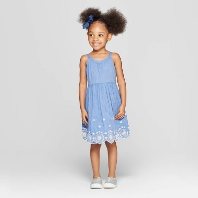 Toddler Girls' A-Line Dress - Cat & Jack™ Blue 18M