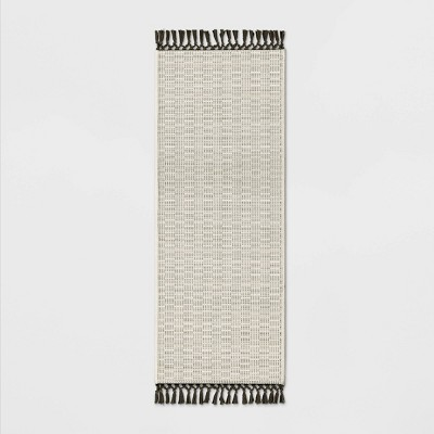 60 x20  Textured Runner With Fringe Neutral - Opalhouse™