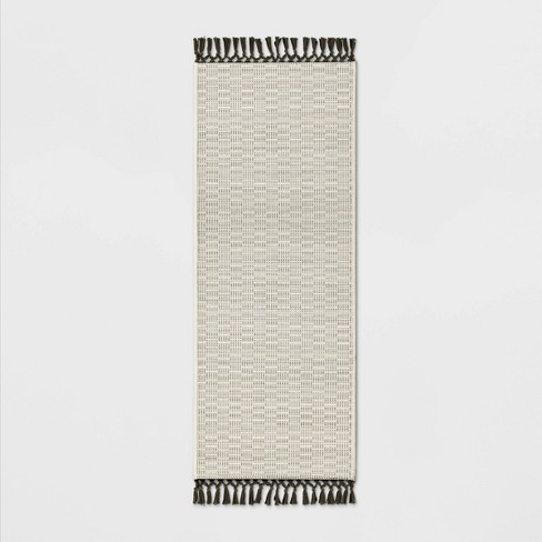 """60""""x20"""" Textured Runner With Fringe Neutral - Opalhouse™ - image 1 of 3"""