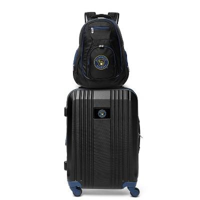 MLB Milwaukee Brewers 2 Pc Carry On Luggage Set