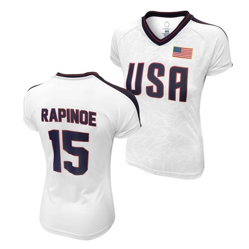 United States Soccer Federation 2020 Women's Megan Rapinoe White Jersey - image 1 of 1
