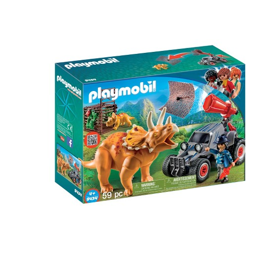 Playmobil Enemy Quad with Triceratops image number null