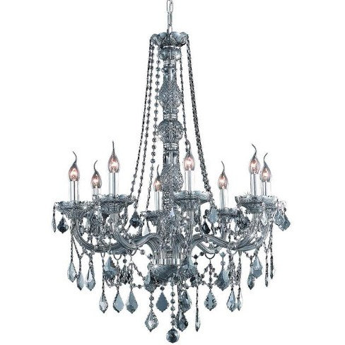 Elegant Lighting 7858D28SS-SS Verona 8-Light, Single-Tier Crystal Chandelier, Finished in Silver Shade - image 1 of 1