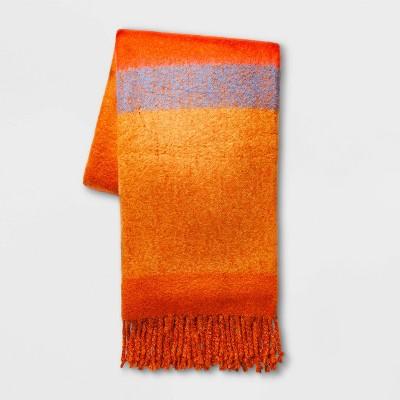 Stripe Faux Mohair Throw Blanket -Threshold™