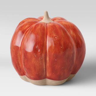 "5"" x 5"" Decorative Ceramic Pumpkin Rust - Threshold™"