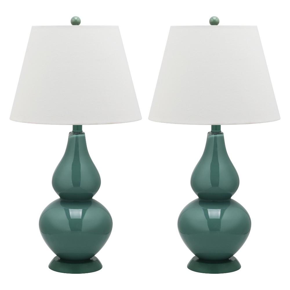 Table Lamp - Ocean Blue/White - Safavieh
