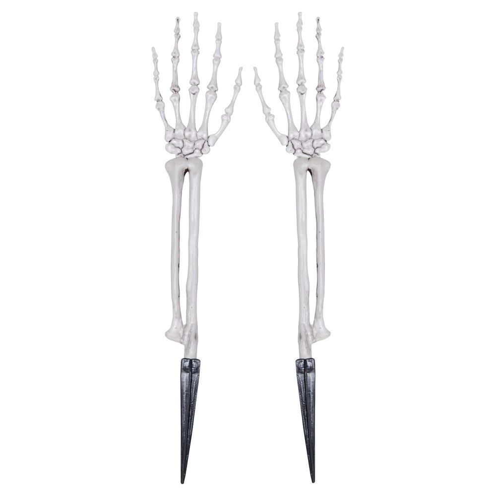 19.9 Halloween Skeleton Hands, Multi-Colored