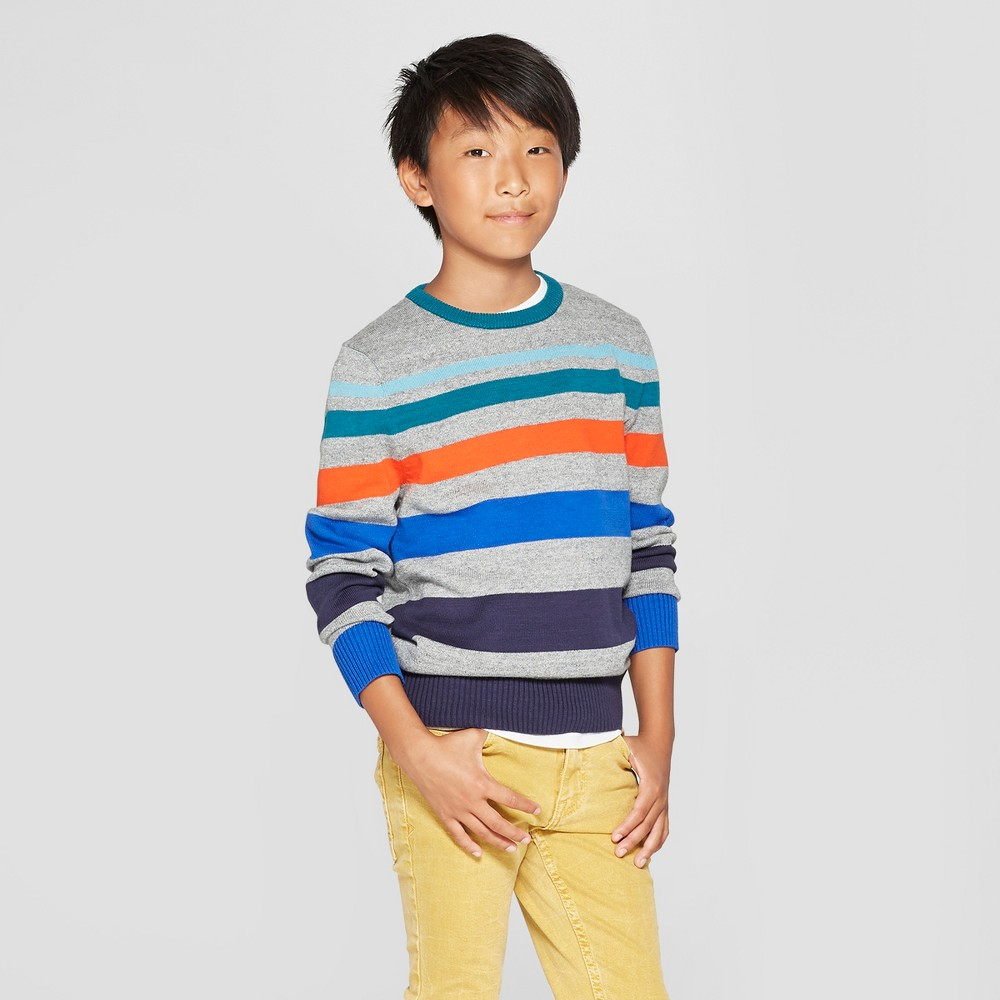 Boys' Long Sleeve Pullover Sweater - Cat & Jack XL, Multicolored