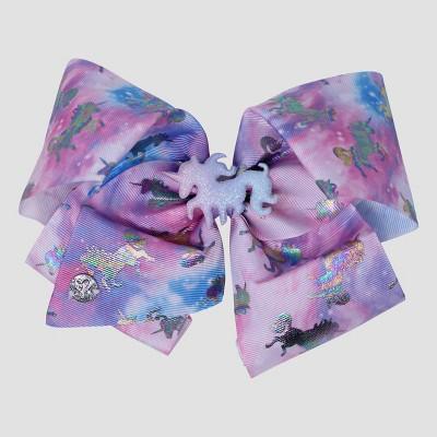 Girls' JoJo Siwa Rainbow Unicorn Bow Hair Clip