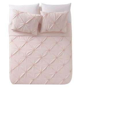 Blush Floral Burst Quilt Set (Full/Queen)- VCNY®