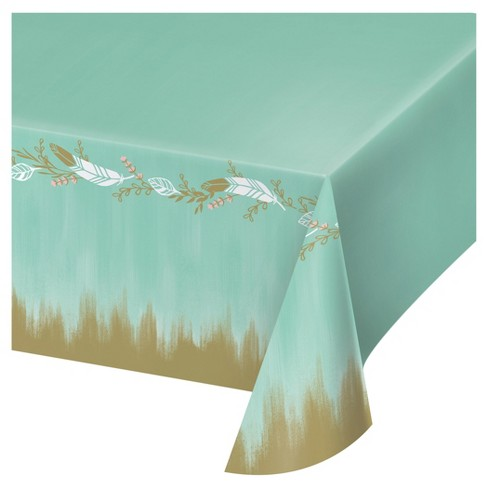 Mint To Be Bridal Shower Plastic Tablecloth Target