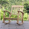 Caterina Teak Patio Rocking Chair with Cushion - Cambridge Casual - image 3 of 4