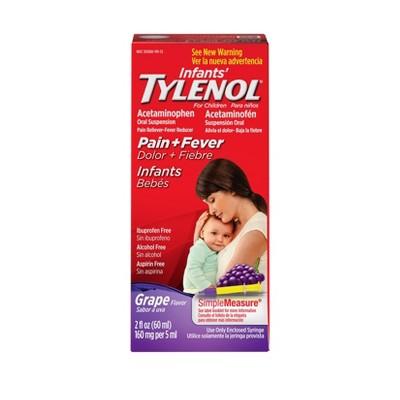 Infants' Tylenol Pain Relief Liquid - Acetaminophen - Grape - 2 fl oz