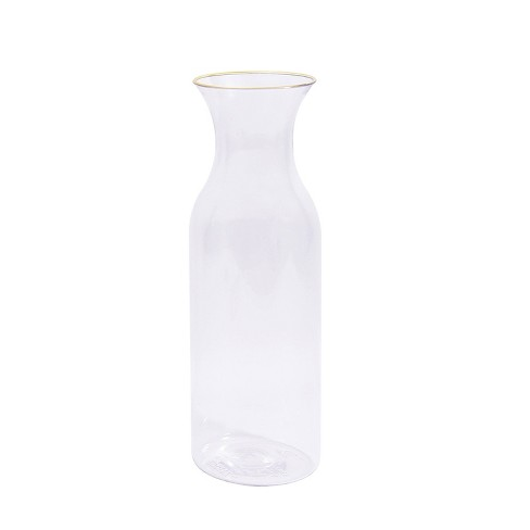 Clear Pitcher/ Carafe with Gold Rim - Spritz™ - image 1 of 1