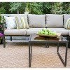 Blakely 5pc Patio Seating Set with Sunbrella Fabric - Tan - Leisure Made - image 2 of 7