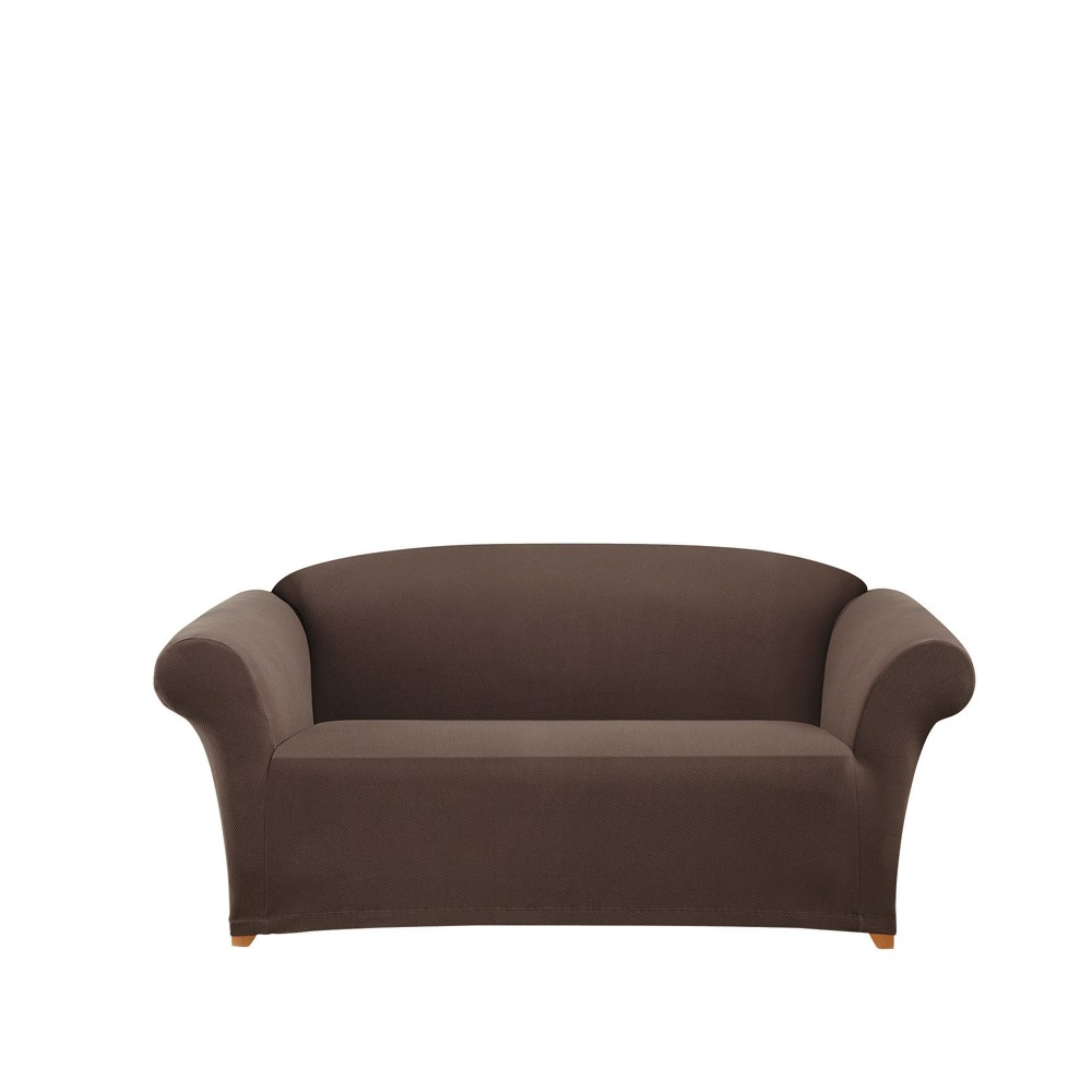 Brown Stretch Honeycomb Sofa Slipcover - Sure Fit