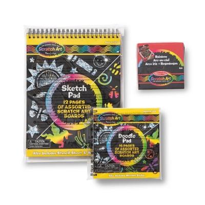 Melissa & Doug Scratch Art Bundle - Sketch Pad, Doodle Pad and Notes