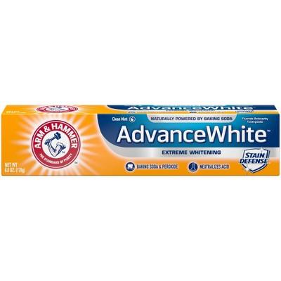 Toothpaste: Arm & Hammer Advance White