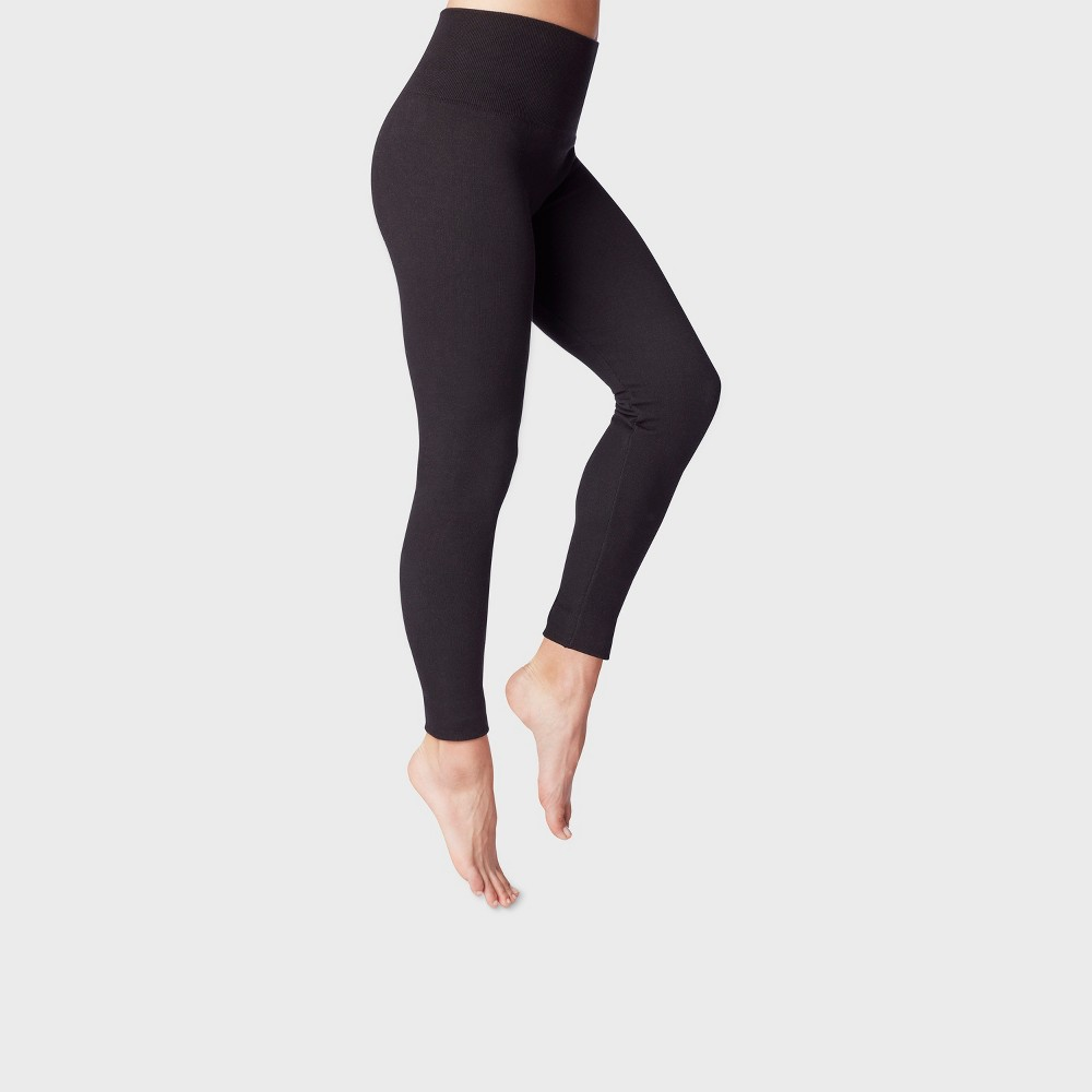 Women's French Terry Leggings - A New Day Black S/M