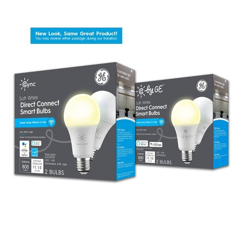 General Electric 2pk C Life Aline A19 LED Bulb White - image 1 of 4