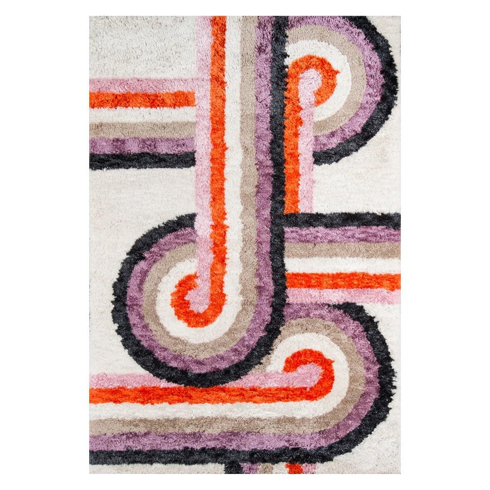 "Image of ""2'3""""X7'6"""" Geometric Tufted Accent Rug Lavender (Purple) - Novogratz By Momeni"""