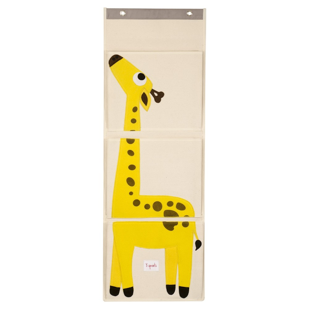 Image of 3 Sprouts Hanging Storage Organizer - Giraffe, Multi-Colored