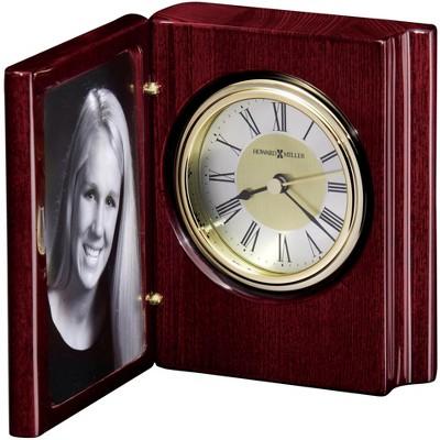 Howard Miller 645497 Howard Miller Portrait Book Tabletop Clock 645497 Rosewood