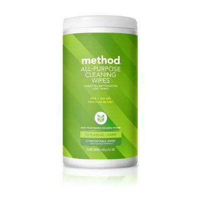 Method All Purpose Wipes Lime and Sea Salt - 70ct