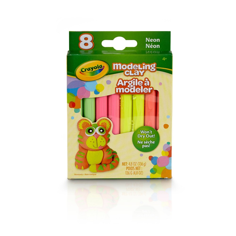 Image of Crayola 8pc Neon Modeling Clay, Assorted Colors