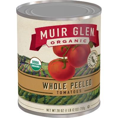 Muir Glen Whole Peeled Tomatoes 28oz
