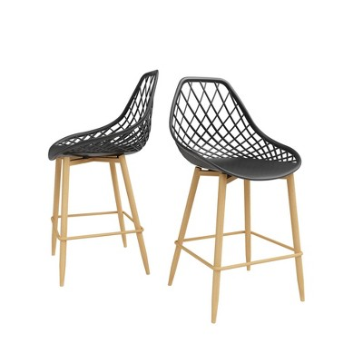 Set of 2 Kurv Counter Chair - Jamesdar