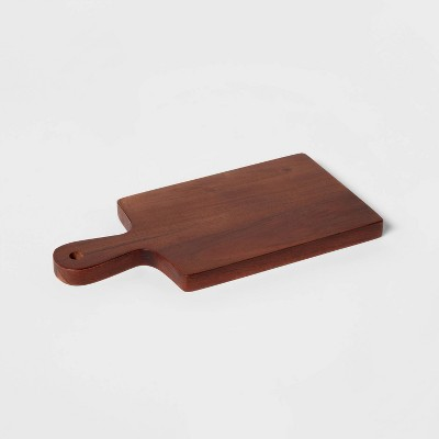 "10"" x 5"" Wooden Single Serve Mini Cheese Board - Threshold™"