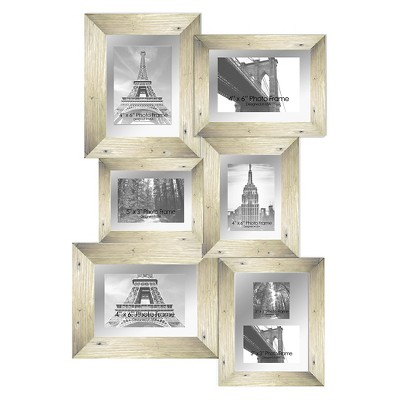"28"" x 19.75"" Paris Multiple picture frame White - PTM Images"