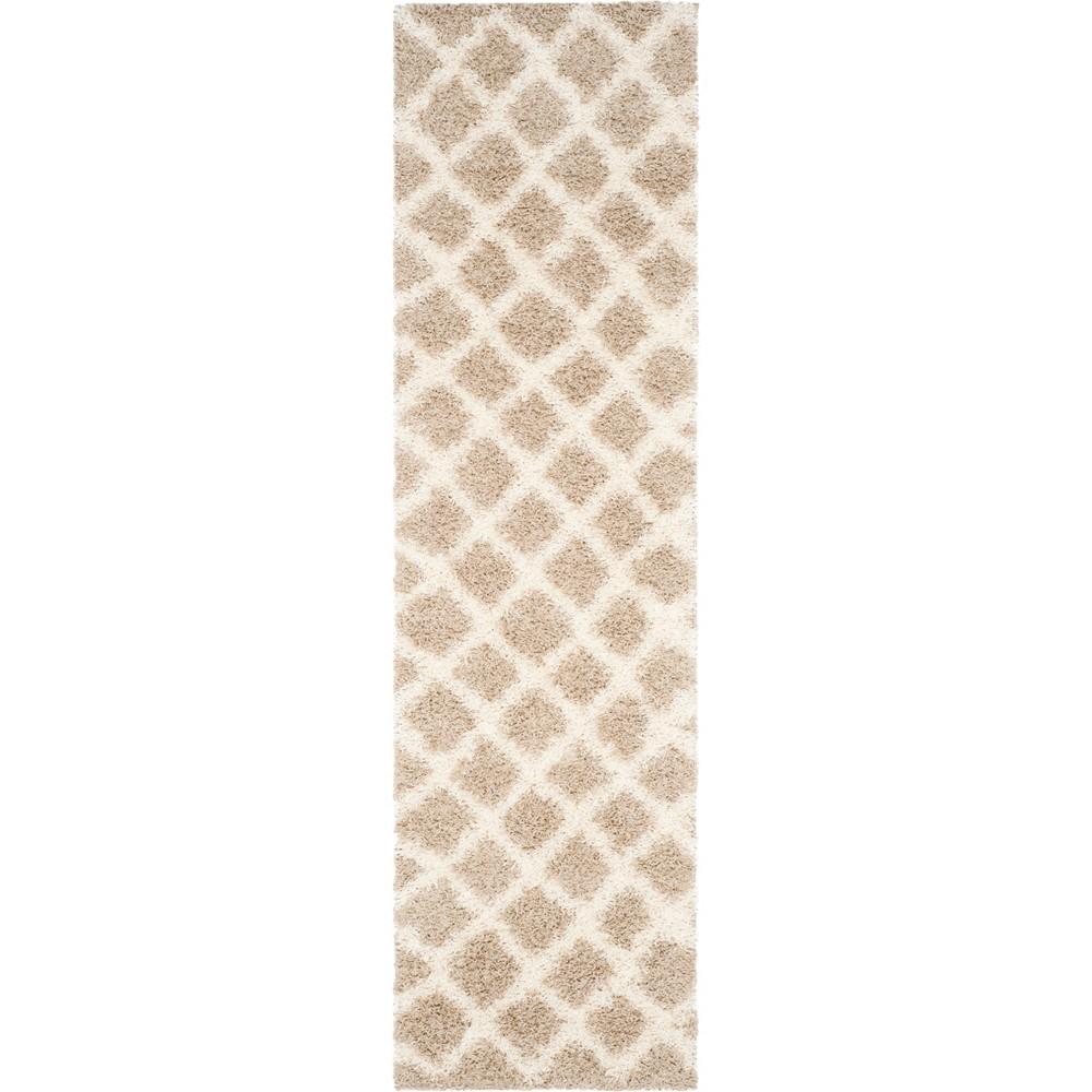 Geometric Loomed Area Rug Beige/Ivory