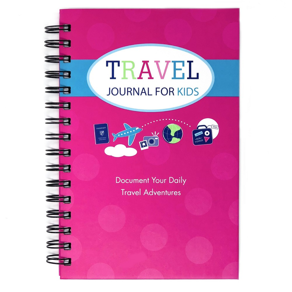 "Image of ""Travel Journal for Kids 8.5""""x5.5"""" Pink - Kahootie Co"""