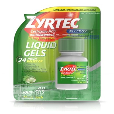 Zyrtec 24 Hour Allergy Relief Capsules - Cetirizine HCl