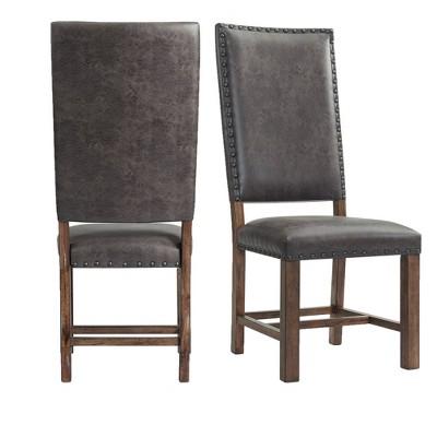 Set of 2 Hayward Tall Back Side Chair Set Walnut - Picket House Furnishings