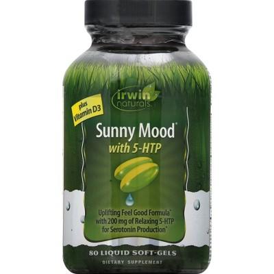 Irwin Naturals Sunny Mood 5-HTP Dietary Supplement Softgels - 80ct