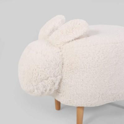 Bajada Kids' Bunny Ottoman Stool White - Christopher Knight Home : Target