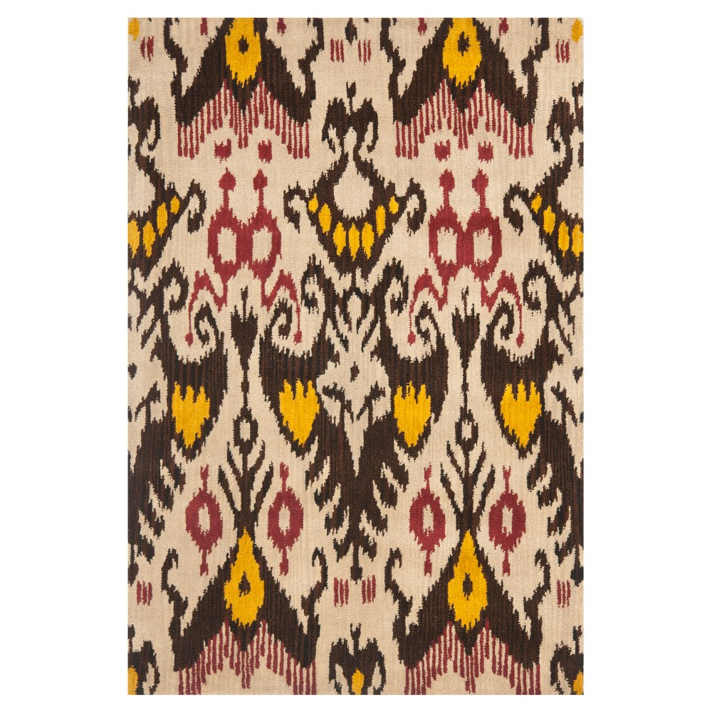 Beige/Brown Abstract Loomed Accent Rug - (3'X5') - Safavieh