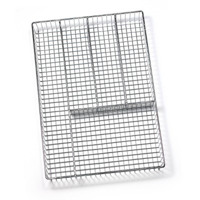 Spectrum Grid Large Silverware Tray - Chrome